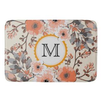 Tapete De Banheiro Monograma floral #6 da aguarela do vintage