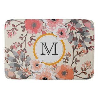 Tapete De Banheiro Monograma floral #9 da aguarela do vintage