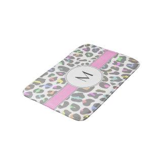 Tapete De Banheiro Monograma Pastel do costume do impressão do