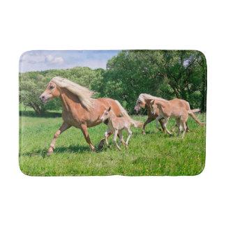 Tapete De Banheiro Os cavalos de Haflinger com potros bonitos