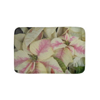 Tapete De Banheiro Poinsétias cor-de-rosa e de creme florais