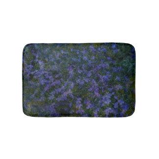 Tapete de banho violeta azul do jardim