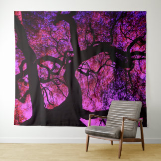 Tapete De Parede Sob a árvore no rosa/roxo