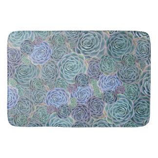 Tapete do banho dos Succulents do verde azul