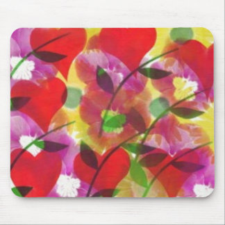 Tapete do rato abstrato floral mousepads