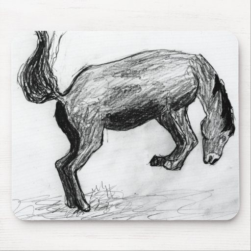 Tapete do rato Bucking do cavalo Mouse Pad