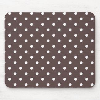 Tapete do rato castanho chocolate das bolinhas mouse pad