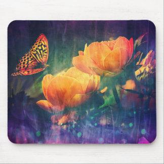 Tapete do rato cor-de-rosa da laranja bonito da mouse pad