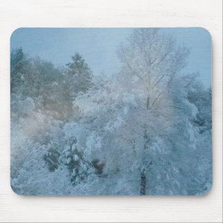 Tapete do rato da paisagem do inverno mouse pad