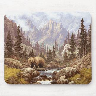 Tapete do rato da paisagem do urso de urso mouse pad