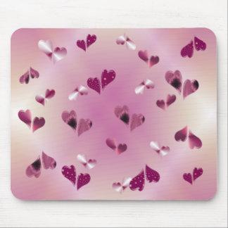 Tapete do rato de flutuação dos corações mousepads