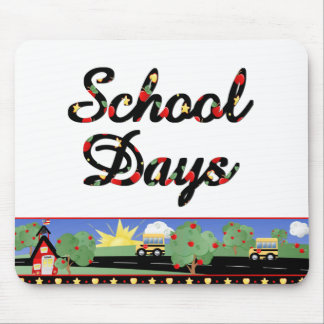 Tapete do rato dos dias escolares mouse pad