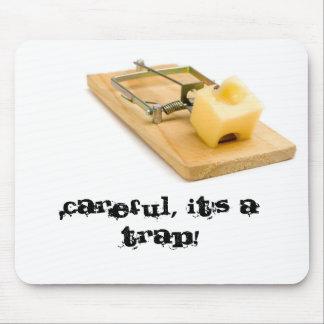 Tapete do rato engraçado - armadilha do rato mousepad