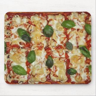 Tapete do rato engraçado da pizza do espinafre mouse pad