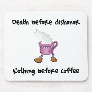 Tapete do rato engraçado do amante do café mousepad