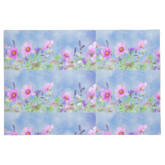 Tapete Doormat na moda da flor selvagem das mulheres