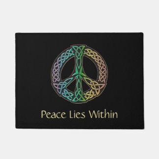 Tapete Esteira bem-vinda celta de sinal de paz