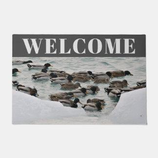 Tapete Esteira bem-vinda da cabine da natureza do pato