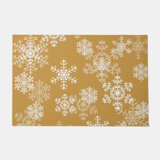Tapete Esteira de porta dos flocos de neve do Natal no