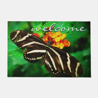 """Tapete Foto listrada preto e branco da borboleta da """"boa"""