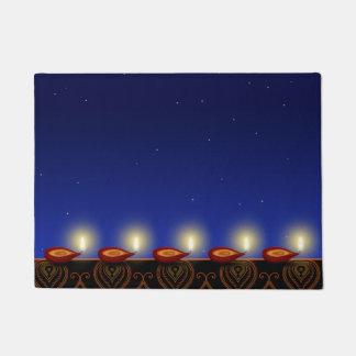 Tapete Lâmpada luminosa de Diwali - esteira de porta