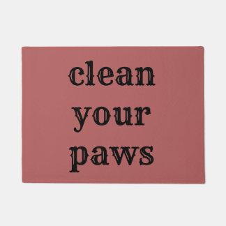 Tapete limpe as patas
