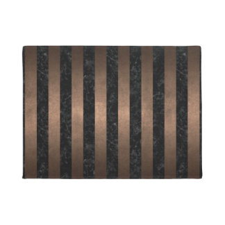 TAPETE METAL PRETO DO MÁRMORE STRIPES1 & DO BRONZE