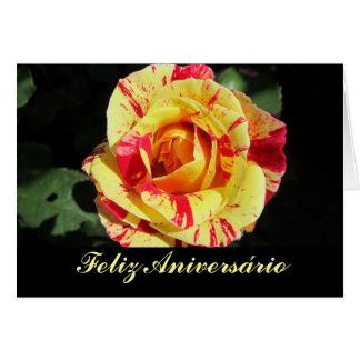 Tarjeta Feliz Aniversário Cartão Comemorativo