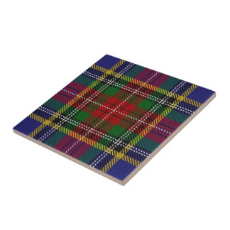Tartan escocês das expressões de Macbeth do clã Azulejo Quadrado Pequeno