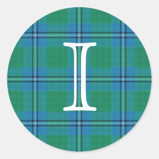 Tartan escocês de Irvine Irwin do clã com Adesivo