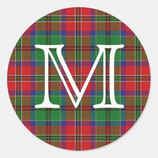 Tartan escocês de MacCulloch do clã com monograma Adesivo