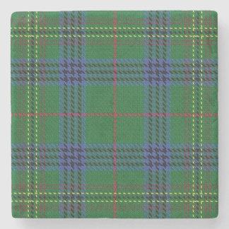 Tartan escocês velho de Kennedy do clã da taberna Porta-copos De Pedra