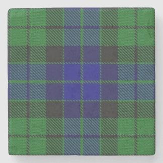 Tartan escocês velho de MacKay do clã da taberna Porta-copos De Pedra