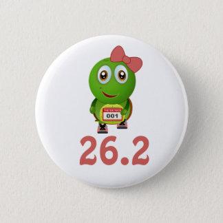 Tartaruga 26,2 da menina (maratona) bóton redondo 5.08cm