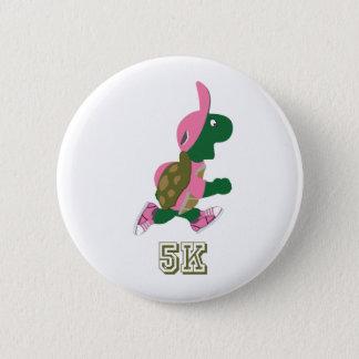 Tartaruga 5K - Rosa Bóton Redondo 5.08cm
