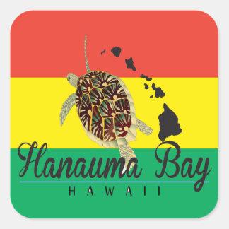 Tartaruga da reggae de Havaí Adesivos Quadrados