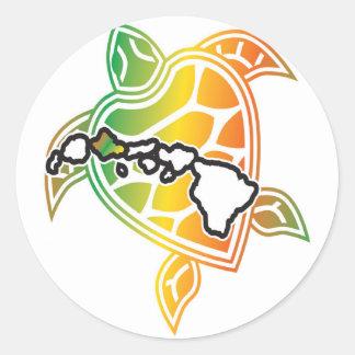 Tartaruga da reggae de Havaí Adesivo Redondo