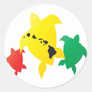 Tartaruga das ilhas da reggae de Havaí Adesivo