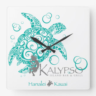 Tartaruga de mar de Kalypso Relógios De Paredes