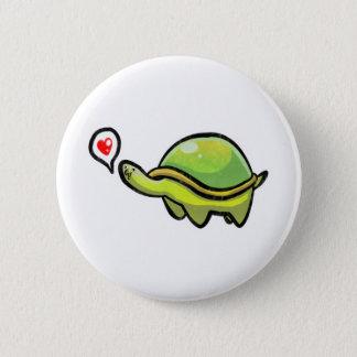 Tartaruga do amor bóton redondo 5.08cm