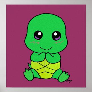 Tartaruga do bebê pôster