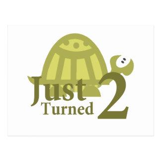 Tartaruga verde: Apenas dois girados Cartão Postal