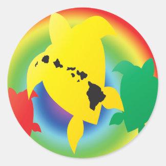 Tartarugas da reggae de Havaí Adesivo