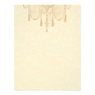 Tassles in Gold Stationery Customized Letterhead