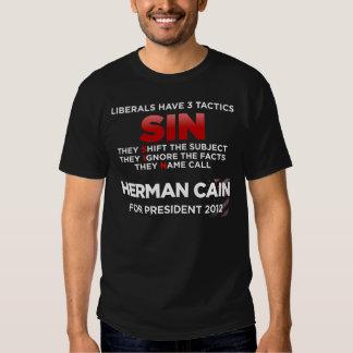 Táticas do PECADO dos liberais T-shirts