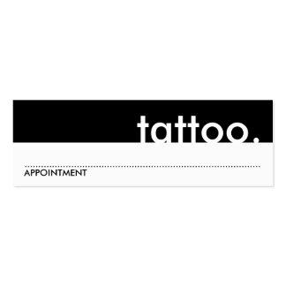 tatuagem. (cartão da nomeação) cartão de visita skinny
