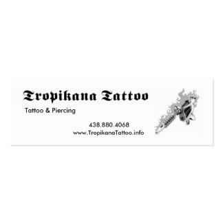 Tatuagem de Tropikana Cartão De Visita Skinny