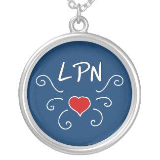 Tatuagem do amor de LPN Colar Com Pendente Redondo