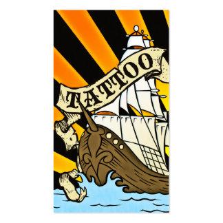 tatuagem do navio de pirata cartão de visita
