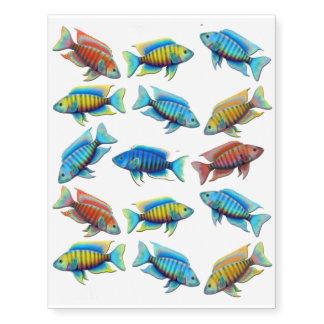 Tatuagem provisório africano dos peixes de